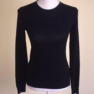 Theory Black Crewneck Sweater